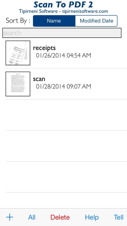Scan To PDF 2 Free
