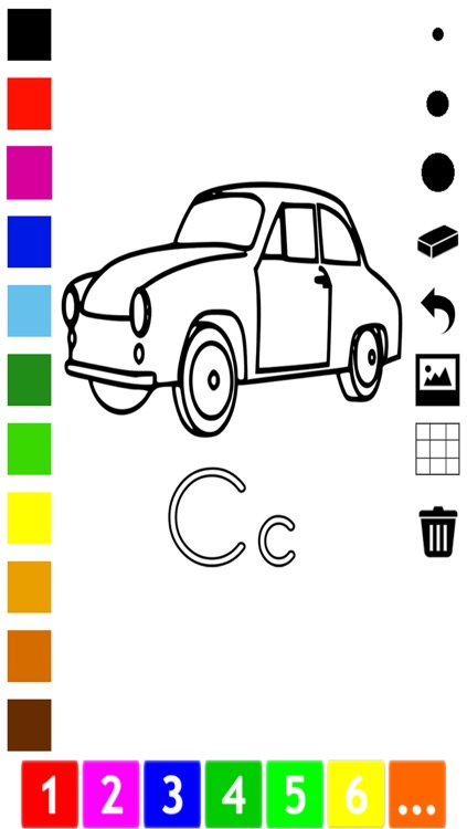 ABC Coloring Book for Toddlers: Learn to color and write the English letters of the alphabet screenshot-4