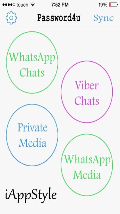 Password4U for Viber,WhatsApp,Private Media