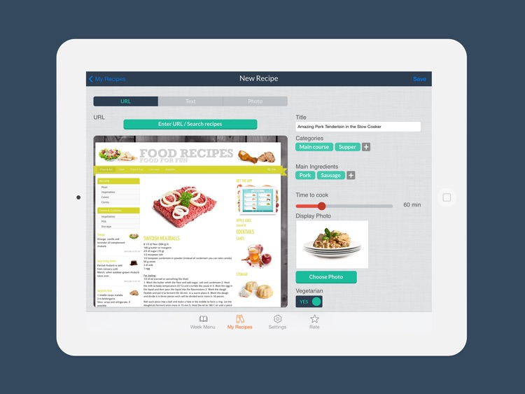 Week Menu - Plan your cooking with your personal recipe book screenshot-4