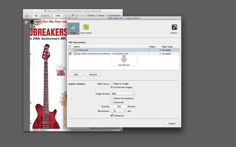 PdfGrabber Image-Edition for Mac