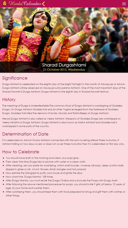 Hindu Calendar iOS screenshot-3