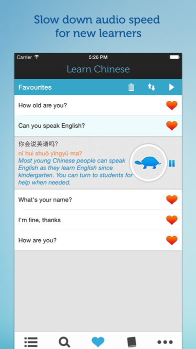 Learn Chinese - Mandarin Phrasebook for Travel in China Screenshot