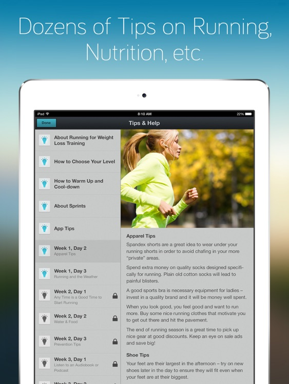 Running for Weight Loss for iPad: training plan, how-to-lose-weight tips by Red Rock Apps screenshot-3