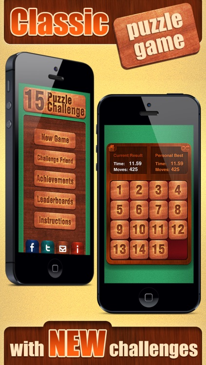 15 Puzzle Challenge. Free classic sliding tiles game! screenshot-0