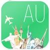 オーストラリア フライ&ドライブ。予約オフラインロードマップ、フライト状況&チケット、空港、レンタカー、ホテル。