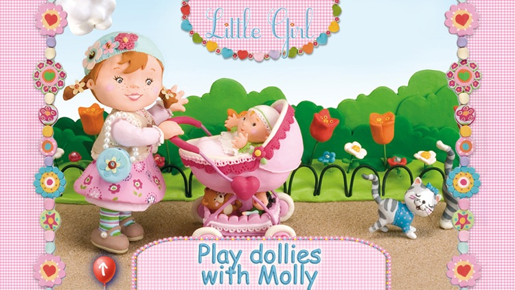 Molly is playing with her dolly - Little Girl screenshot-0