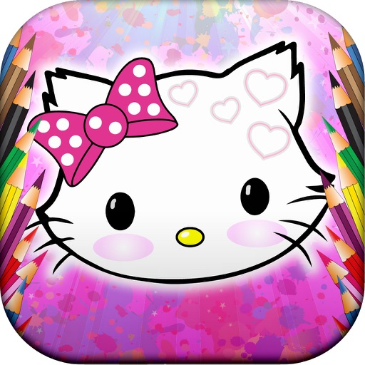 Kitty Coloring Funny iOS App