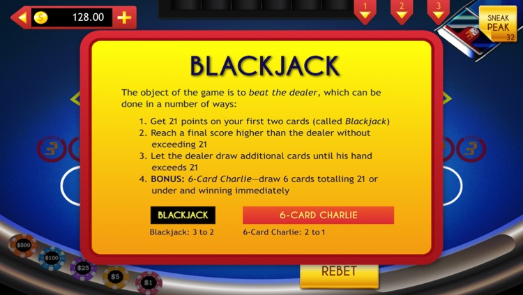 Blackjack with Side Bets & Cheats screenshot-3
