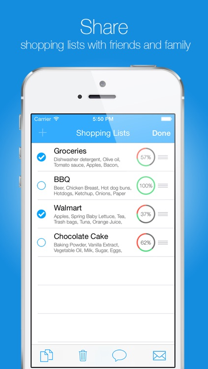 Groceries - Smart Shopping List - create, edit and share your grocery lists and recipes screenshot-3