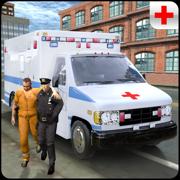 警方囚徒救护车范 - 刑事运输模拟器游戏