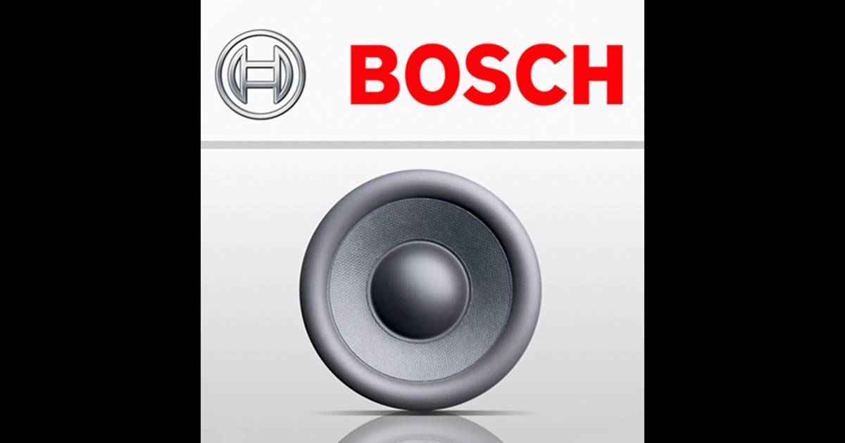 bosch loudspeaker selection on the app store. Black Bedroom Furniture Sets. Home Design Ideas