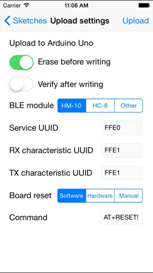 Apploader - upload Arduino sketches over BLE on the App Store