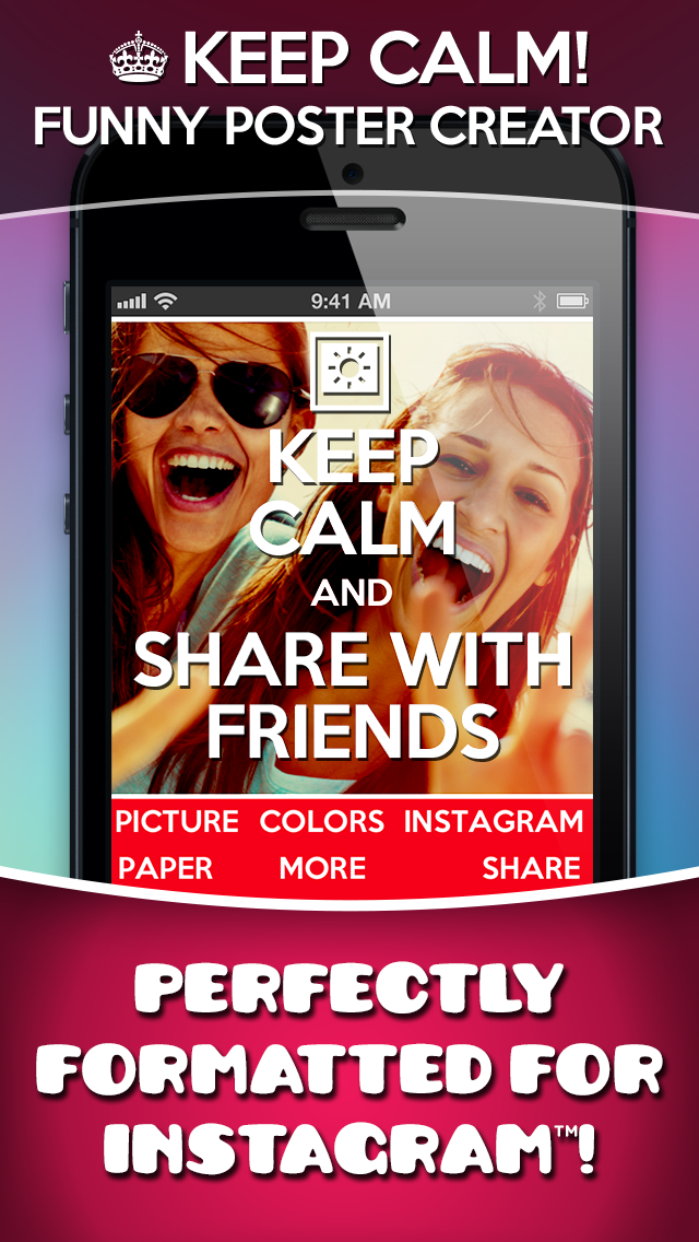 Keep Calm! Funny Poster Creator screenshot one
