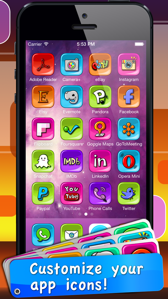 App Icon Skins - Shortcut for your app on home screen screenshot three