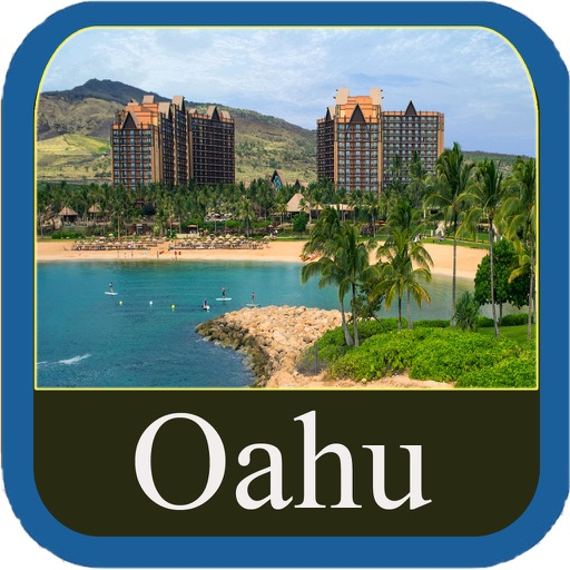 Oahu Island Offline Map Travel Guide