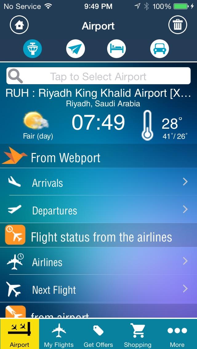 Riyadh King Kahlid Airport Pro (RUH) Flight Tracker Premium Saudi Arabian air radar airlines-1