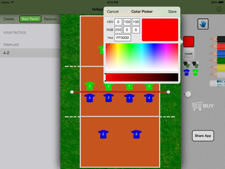 Volleyball Tactics Board screenshot-4
