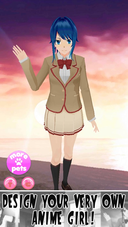 virtual anime girl by gluten free games