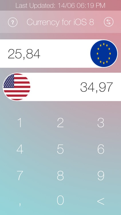 Currency for iOS 8 screenshot-1