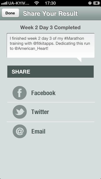 Marathon Trainer Free - Run for American Heart screenshot-3