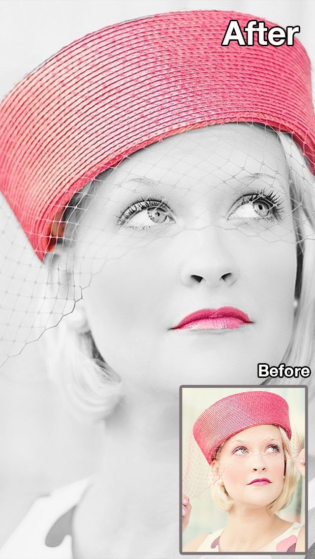 Screenshot #8 for Color Recolor Effects - Photo Splash FX and Paint Highlights into Black & White Pictures