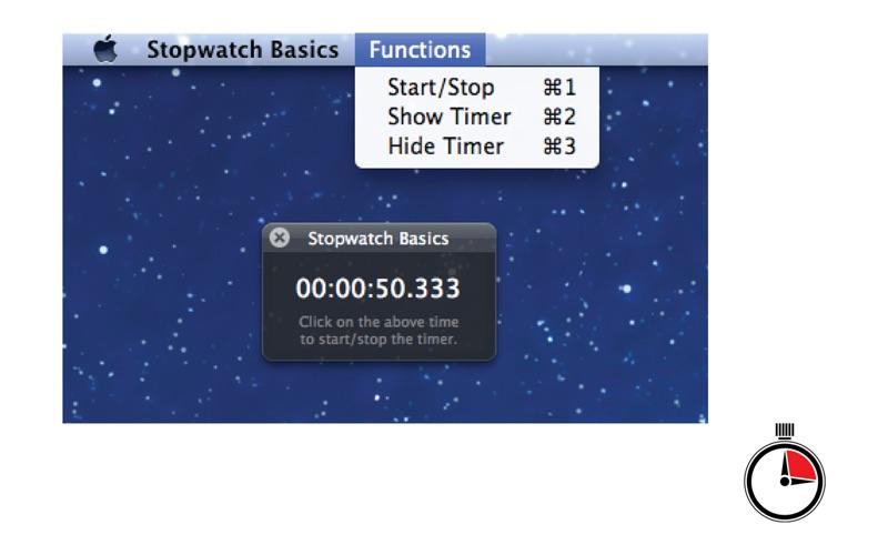 Stopwatch Basics скриншот программы 1
