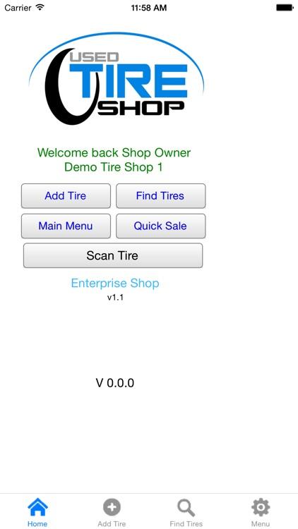 Tire Shop Inventory Control
