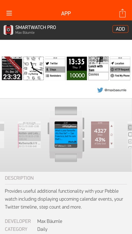 Smartwatch Pro for Pebble screenshot-4