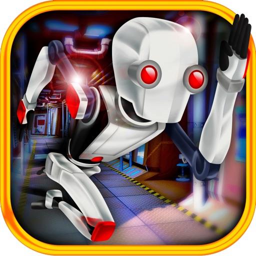 3D Scifi Robot Fast Running Battlefield Pro