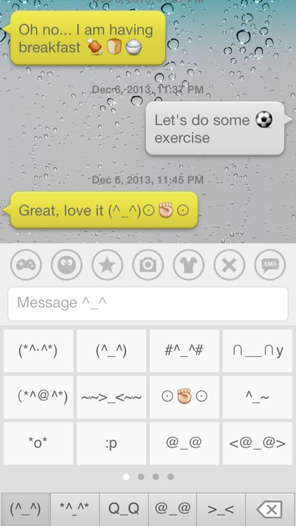 Aqua Emoji Keyboard – make emoticon smiley face in cute bubbles
