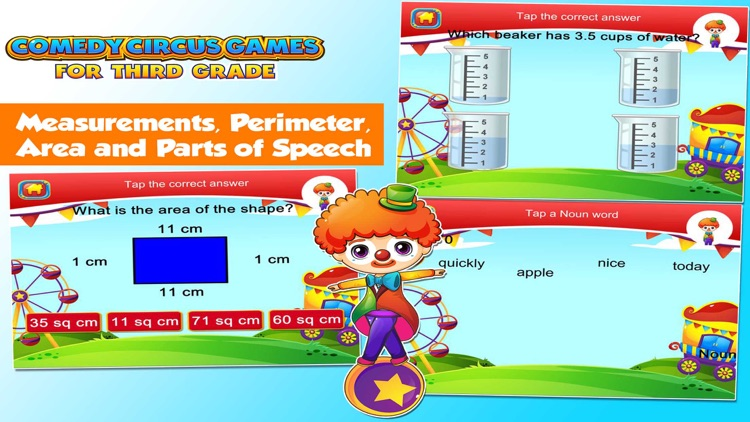 Third Grade Games with the Circus School Edition