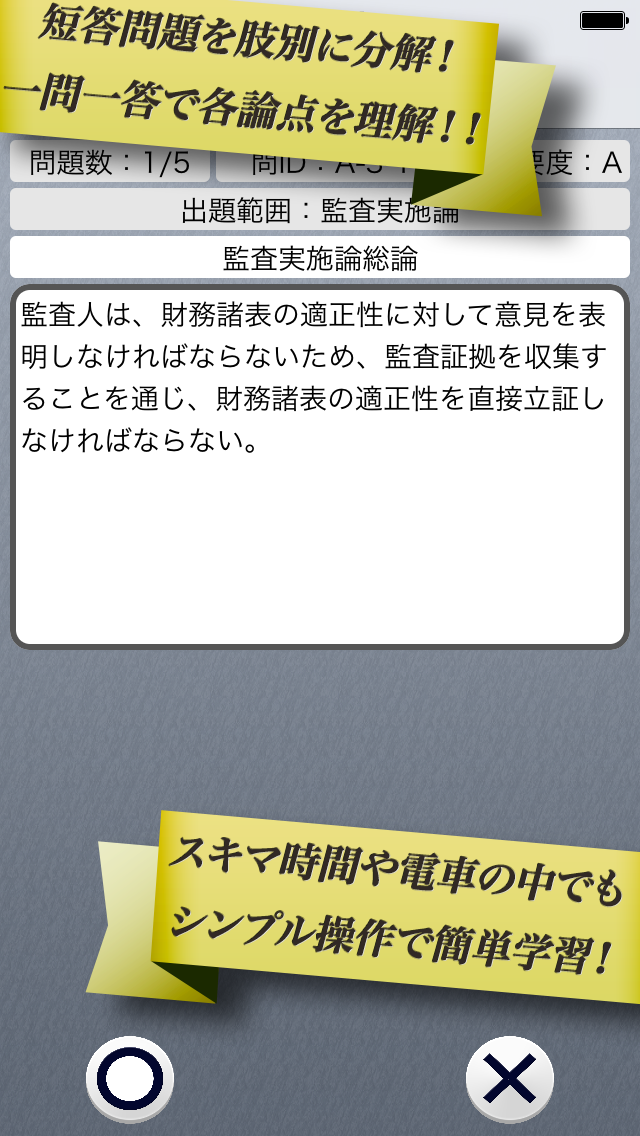 早解き!会計士短答 監査論 東京CPA会計学院監修(厳選300肢)のおすすめ画像2