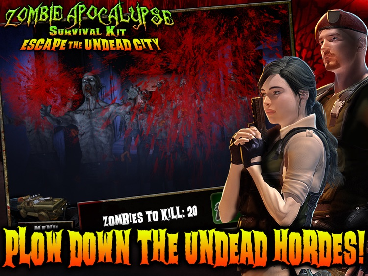 Zombie Apocalypse Survival Kit: Escape the Undead City HD screenshot-4