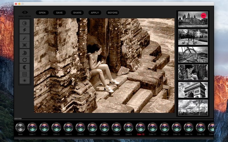 B+W - black and white effects plus photo editor for Mac