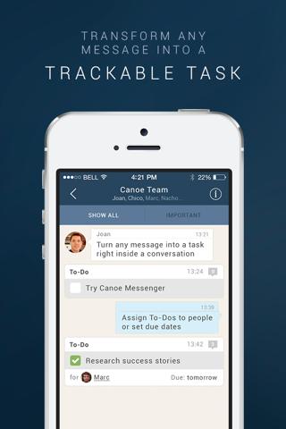Canoe Messenger - Mobile Messaging for Work screenshot 3