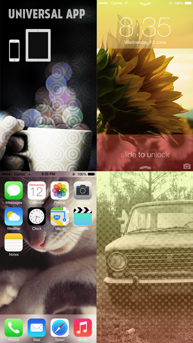 Gradify - Custom Wallpapers for iOS7 by Pimp your Photos (+Valentine's Day Wallpaper) Screenshot 5