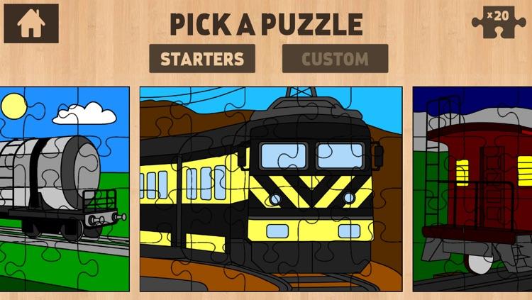 Color It Puzzle It: Trains Lite screenshot-3