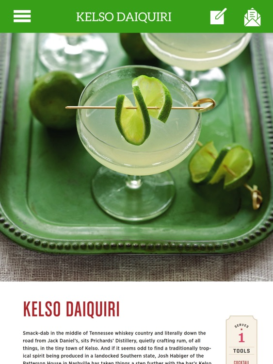 Cocktail Recipes - TK Cookbook for iPad