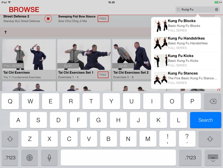 Martial Arts College: Video Lessons for iPad screenshot-3