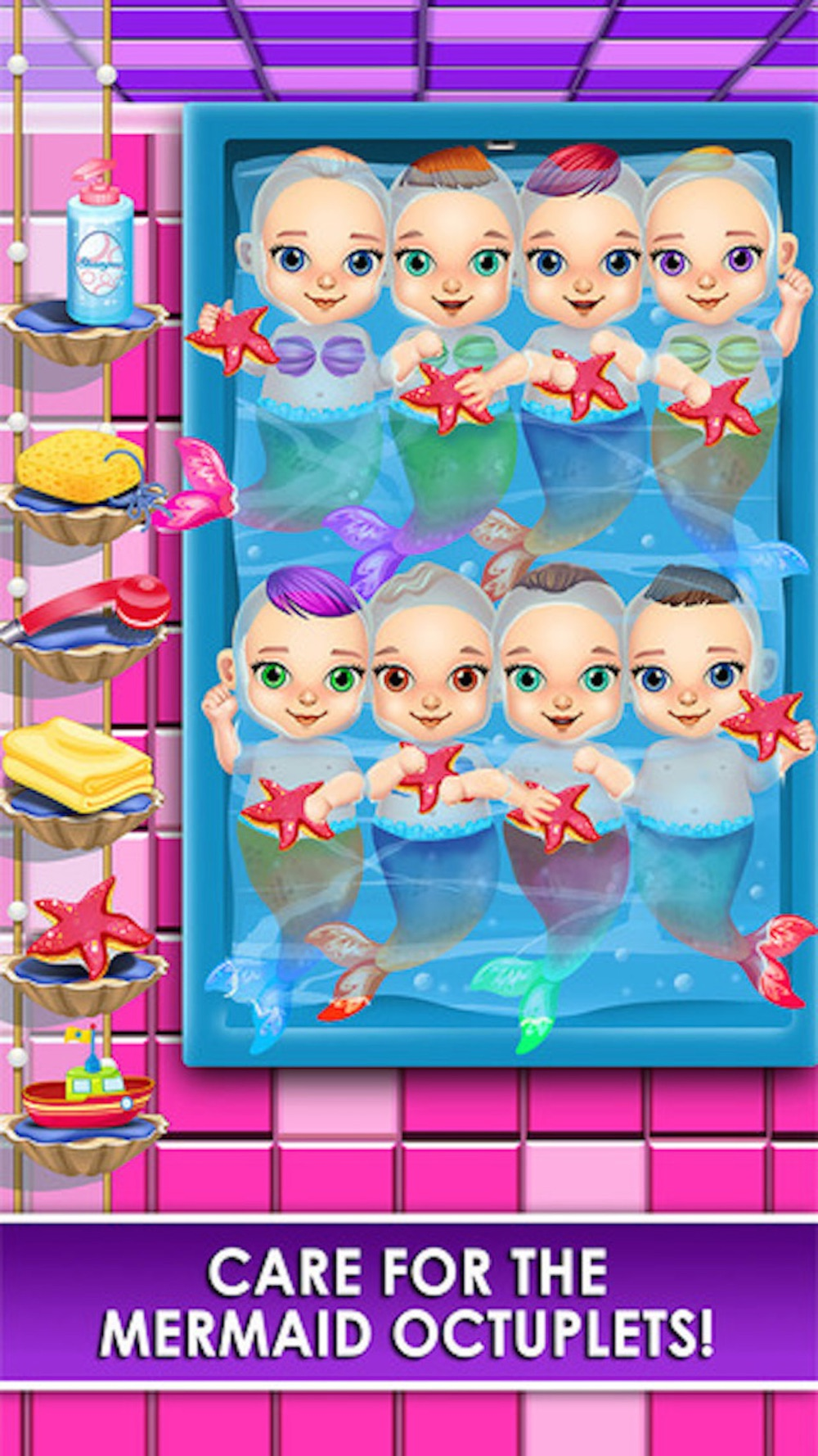 Mermaid Newborn Babies Care - Mommy's Octuplets Baby Salon Doctor Game hack tool