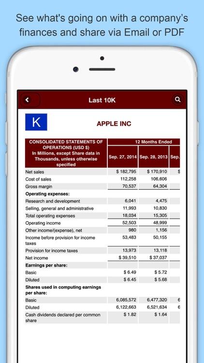 Last 10K: Company SEC Filings