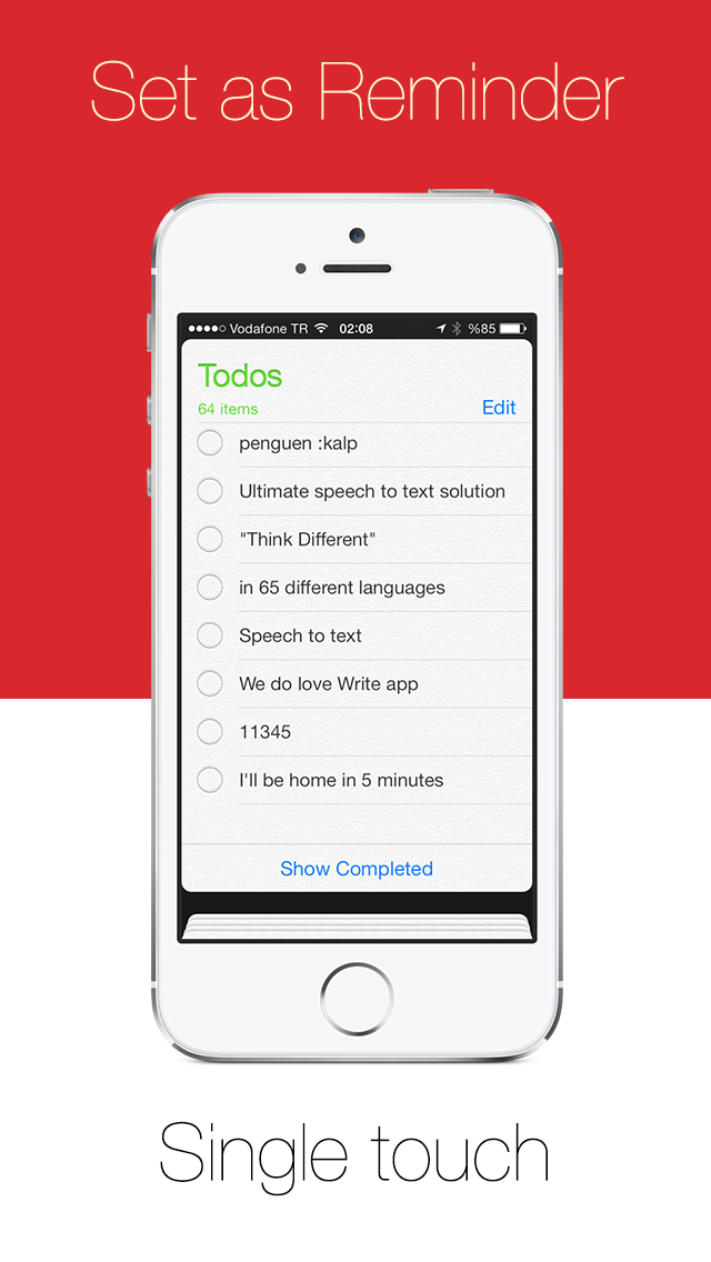 Write - ワンタッチスピーチをダイレクトメッセージのSMSメールやリマインダーでディクテーション、音声認識をテキストに。のおすすめ画像4