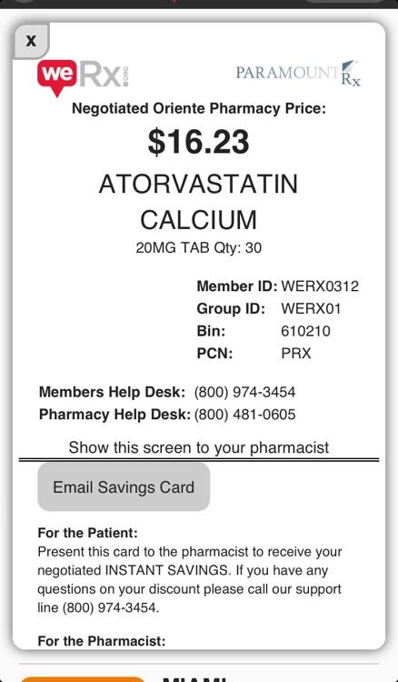 WeRx: Prescription Medication Price Transparency & Savings screenshot-3