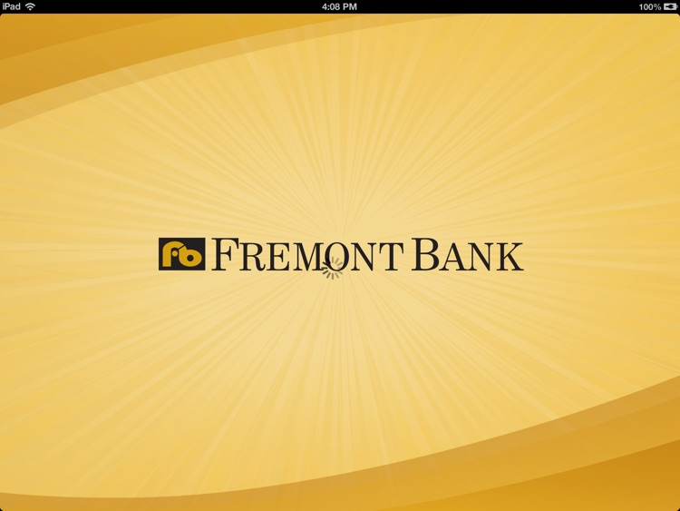 Fremont Bank for iPad