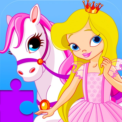 Princess Pony Puzzles - Free Animated Kids Jigsaw Puzzle with Princesses and Ponies!
