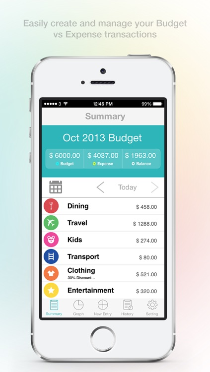 Budget Expense Planner - Track, Manage & Organise Your Personal Daily, Monthly, Yearly Bills, Payments, Expenditures & Save Money! screenshot-0