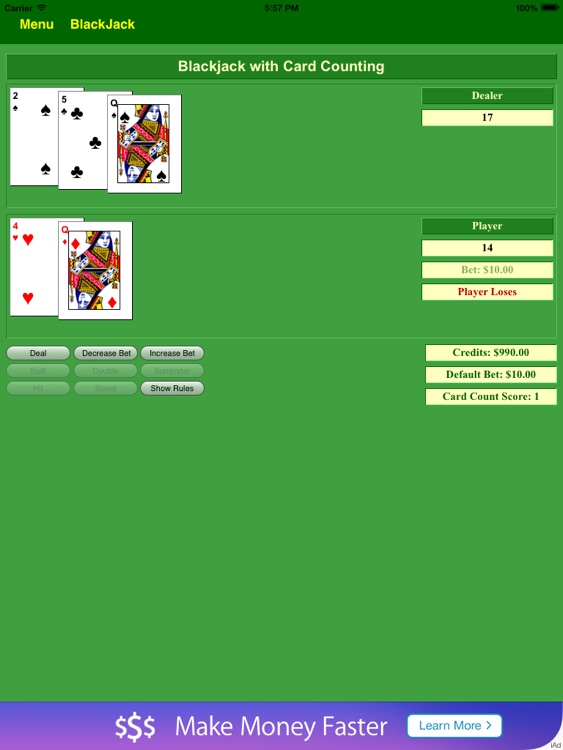 BlackJack Card Count Tutor Free - BA.net screenshot-3