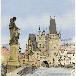 Прага - большая прогулка. Аудиогид с альбомом фотографий маршрута и картой города