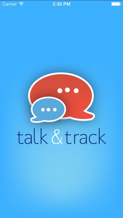 Talk and Track screenshot-0